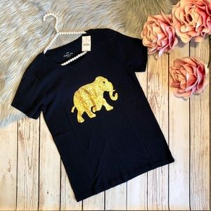J. CREW GOLD ELEPHANT COLLECTOR TEE NEW WITH TAGS